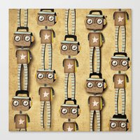 robots Canvas Prints featuring Robots  by Ruth Fitta Schulz