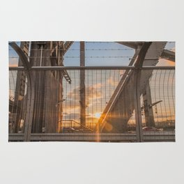 Caged Sunset - Harbour Bridge, Sydney Rug