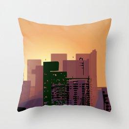 Sunset over San Francisco Throw Pillow