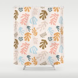 Seaweeds and sand Shower Curtain