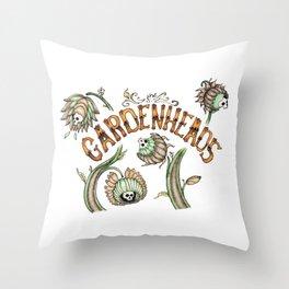 The Gardenheads Throw Pillow