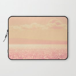 Dreamy Champagne Pink Sparkling Ocean Laptop Sleeve