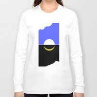 sun and moon Long Sleeve T-shirts featuring The sun and moon by barmalisiRTB