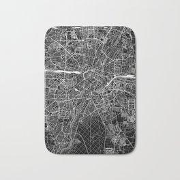 Munich Black Map Bath Mat