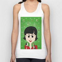 amelie Tank Tops featuring Amelie Poulain by Camila Oliveira