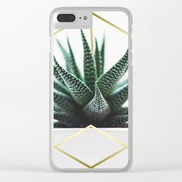 LUXE x SHEA - Gold plant life minimal Clear iPhone Case