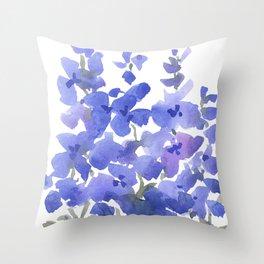 Beautiful Blue Delphiniums Throw Pillow