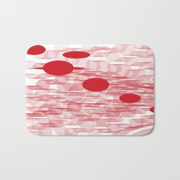 red planets Bath Mat
