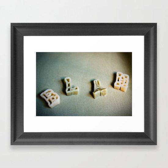 BLAH... Framed Art Print