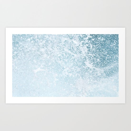 Wave power Art Print