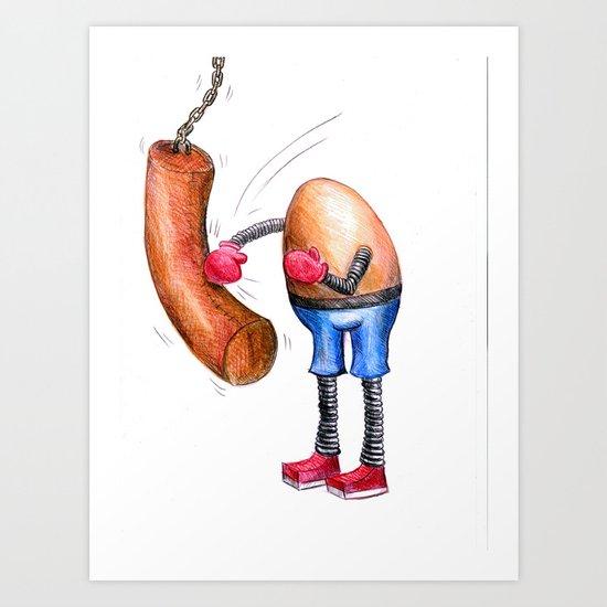 Egg Boxer Art Print