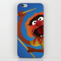 muppets iPhone & iPod Skins featuring Animal - Muppets Collection by Bryan Vogel