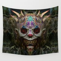mad Wall Tapestries featuring Mad Clown by Zandonai