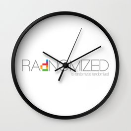 RAdNOMIZED Logo Wall Clock