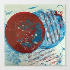 Outer Space Gelli Canvas Print