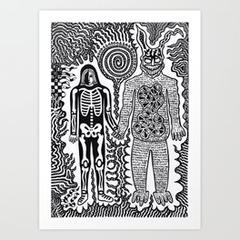 I was in a skeleton suit holding your hand... then I woke up / In honour of Donnie Darko Art Print