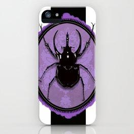 Juicy Beetle PURPLE iPhone Case