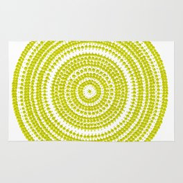Lime green dot art painting Rug