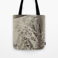 Yosemite Half Domes Backside Re-imagined Tote Bag
