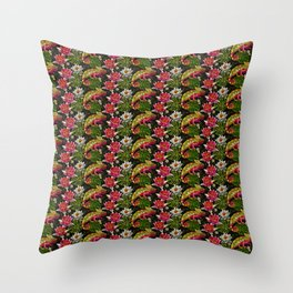 Tropical Chameleon Pattern Throw Pillow