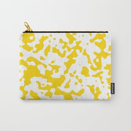 Spots - White and Gold Yellow Carry-All Pouch