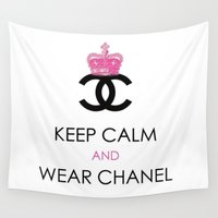 keep calm Wall Tapestries featuring KEEP CALM by I Love Decor