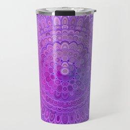 Mandala Flower in Violet Tones Travel Mug