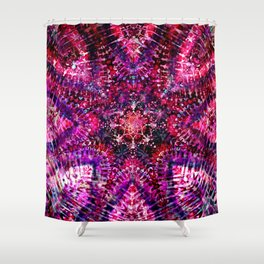 Pink Star Ice Tye Dye Shower Curtain