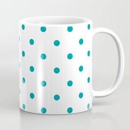 Teal & White Polka Dots Coffee Mug