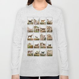 Dogs In Vintage Style Long Sleeve T-shirt