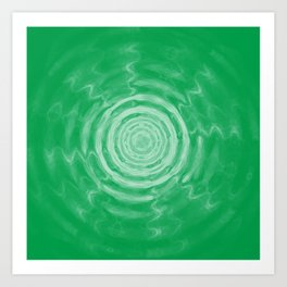 Ripples_Green Art Print