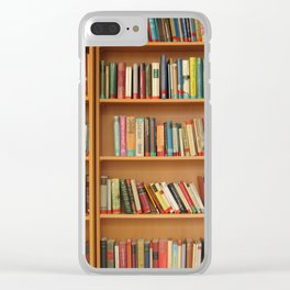 Bookshelf Books Library Bookworm Reading Clear iPhone Case