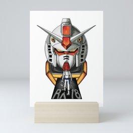 gundam  rx 78 Amuro Ray Mini Art Print