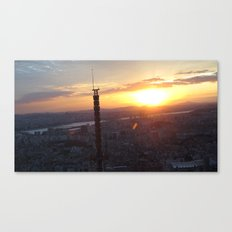 Sunset in Seoul Canvas Print