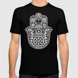 Black and White Hamsa Hand T-shirt
