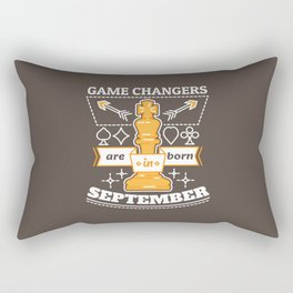 Game Changers are Born in September Rectangular Pillow