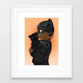 KIDS OF WAKANDA - BABY T'CHALLA Framed Art Print