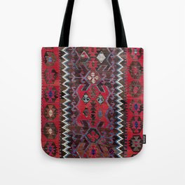 Obruk Konya Turkish  Antique Kilim Rug Tote Bag