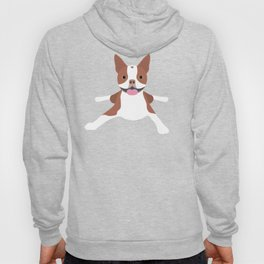 red boston terrier Hoody