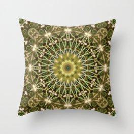 Geometric Forest Mandala Throw Pillow