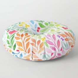 Floral Pattern Floor Pillow