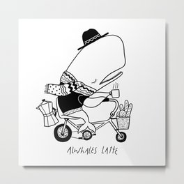 Alwhales Latte Metal Print