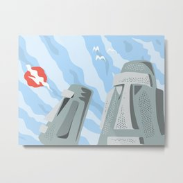 Twin Monoliths Metal Print