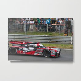 R8 Sports Motor Car 24 Hours of Le Mans 2016 Metal Print