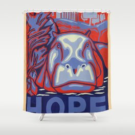 Hippo for Hope Shower Curtain