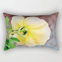 Yellow Rose Rectangular Pillow