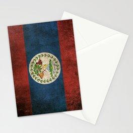 Old and Worn Distressed Vintage Flag of Belize Stationery Cards
