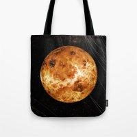 venus Tote Bags featuring VENUS by Alexander Pohl
