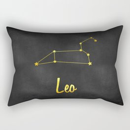 Leo Zodiac Constellation in Gold Rectangular Pillow
