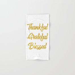 Thankful Grateful Blessed Hand & Bath Towel